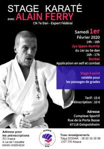 Stage Karaté avec Alain Ferry Expert fédéral @ Complexe Sportif   Geispolsheim   Grand Est   France