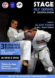 Stage Self Défense avec Alain Ferry 7e Dan @ Dojo   Geispolsheim   Grand Est   France
